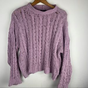AMERICAN EAGLE Light Purple Soft Knitted Sweater